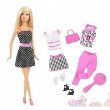 barbie fashion doll gift set