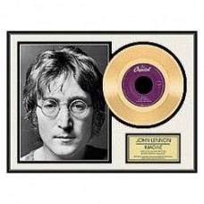 John Lennon gold framed record
