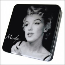 Marilyn Monroe scatola metallo quadrata grande