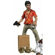 scarface action figure in camicia
