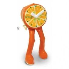 Orologio con gambe arancio