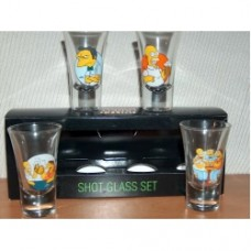 simpsons shotglass set