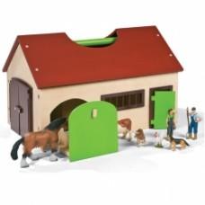 fattoria con suoni e animali