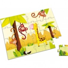 "valigetta puzzle tonda ""jungla"""