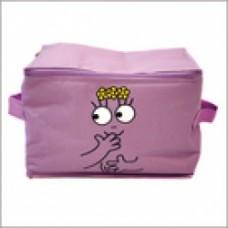 barbapapa scatola in stoffa grande viola