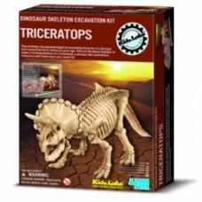 dinosaur skeleton excavation kit triceratops