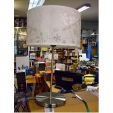 lampada da tavolo bianca fiori foglie