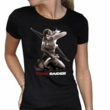TOMB RAIDER T-shirt donna Lara on knees taglia M