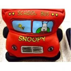 peanuts cuscino bus