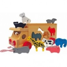 Camion animali con forme da incastrare