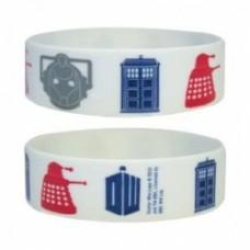 Doctor Who - Rubber Wristband / Bracelet (Icons - Tardis, Daleks, Cybermen, Dr. Who Logo)
