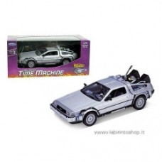 Welly - Back to the Future DeLorean 1981 Time Machine Die-Cast Metal 1/24 Scale Vehicle