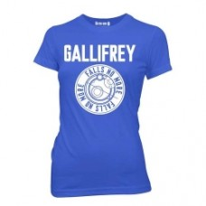 Doctor Who Gallifrey Falls No More Blue T-Shirt Donna