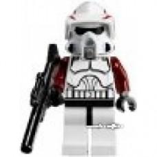 ARF Trooper LEGO Minifig 2012 Design, Dark Red Arms