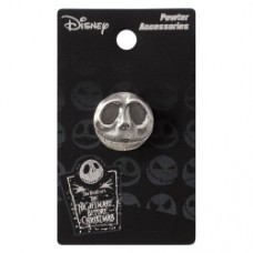 Nightmare Before Christmas Jack Skellington Head Smiling Pewter Lapel Pin