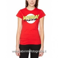 Big Bang Theory - The Bazinga Red T-Shirt donna