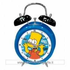 Orologio al quarzo con sveglia The Simpsons