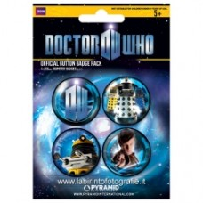 Doctor Who Badge Pack