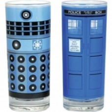 Dr Who-Dalek Tardis Set of 2 glasses