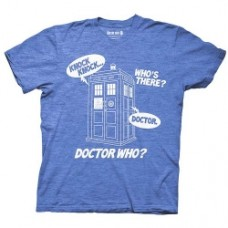 Knock, Who's There TARDIS Blue T-Shirt