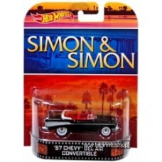 Hot Wheels Retro Entertainment Simon & Simon 1:55 Die Cast Car '57 Chevy Bel Air Convertible