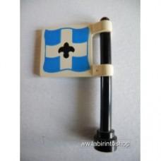 Bandiera blu e bianca con Asta Lego