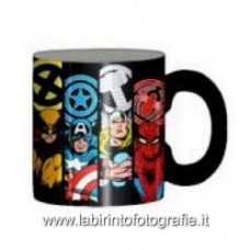 Marvel Characters and Logos 14 oz. Ceramic Laser Print