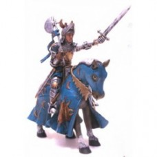 cavalliere azzurro a cavallo
