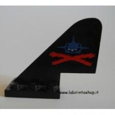 Airplane - Coda nera con disegno