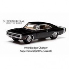 Hollywood Series 7 1/64 Scale Die-Cast Metal Vehicle - Supernatural 1970 Dodge Charger
