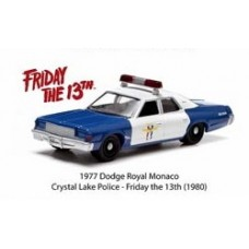 Hollywood Series 7 1/64 Scale Die-Cast Metal Vehicle - Friday the 13th 1977 Dodge Royal Monaco
