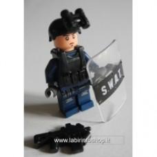 Brick-one SWAT con scudo e visore notturno