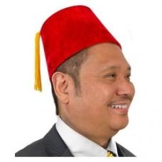 Red Velour Fez Hat