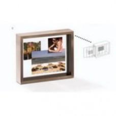 Porta foto in alluminio su vetro