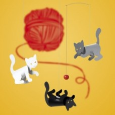 gattini colrati da appendere