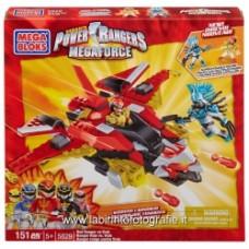Mega Bloks 05829U - Power Rangers Megaforce Ranger Rosso Contro Vrak