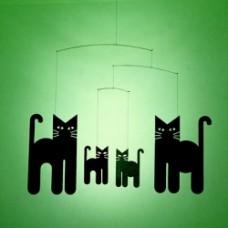 gatti neri da appendere