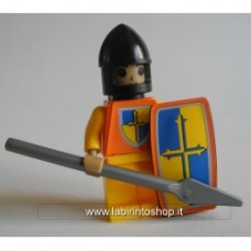 Yellow knight spear soldier