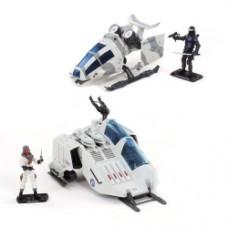 G.I. Joe 50th Anniversary Battle Below Zero Ghost Hawk and Cobra W.O.L.F. Vehicle and Action Figure