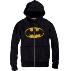 Batman - Grunge Vintage Logo Black - Felpa Uomo