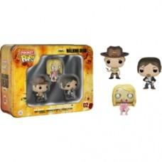 The Walking Dead - Daryl Dixon-Rick Grimes-Teddy Bear Walker Pocket Pop! 3-Pack Tin