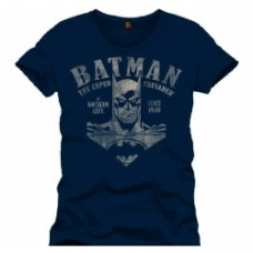BATMAN - T-Shirt The Caped Crusader Navy - Taglia L