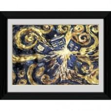 Doctor Who - Exploding Tardis - Foto incorniciata 40x30 cm