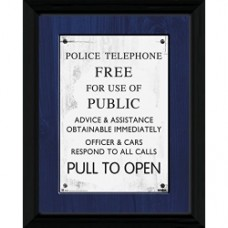 Doctor Who - Tardis Sign - Foto incorniciata 40x30 cm