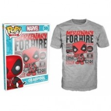 Pop! Tees: Marvel - Deadpool Mercenary for Hire