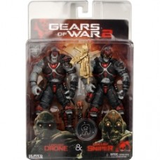 "Gears of War 2 Locust Drone and Locust Sniper 2 pack of 7"" Figures"