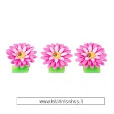 vigar daisy clip magnet set of 3 - Pink