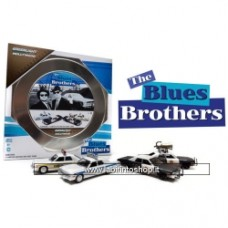 Greenlight Hollywood Film Reels 1:64 59010A BLUES BROTHERS set of 4 Monaco
