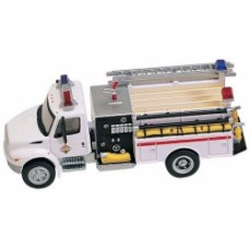international 4300 2 axle 2 door commarcial pumper with red stripe