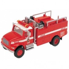 international 4900 2 axle brush fire truck in red and white